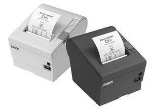 Epson TM-T88V, USB, RS232, light grey