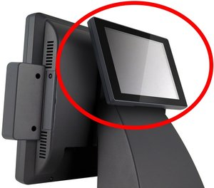 "POS 485 - 8,4"" LCD (Kunddisplay) SVART"