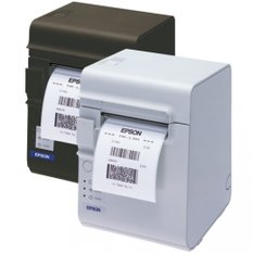 Epson TM-L90LF, 8 dots/mm (203 dpi), linerless, RS232, white