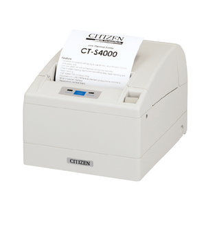 Citizen CT-S4000, USB, RS232, 8 dots/mm (203 dpi), cutter, white