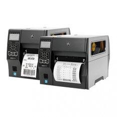 Zebra ZT410, 12 dots/mm (300 dpi), peeler, rewinder, RTC, display, EPL, ZPL, ZPLII, USB, RS232, BT, Ethernet