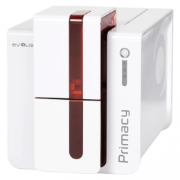 Evolis Primacy, dual sided, USB & Ethernet, smartcard, RFID, Röd front