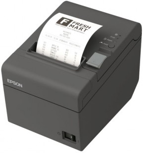 Epson TM-T20II, USB, Ethernet, 8 dots/mm (203 dpi), cutter, black